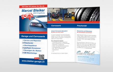 Flyer Garage Bleiker