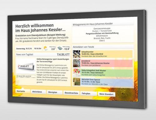 Umfangreiches Info-Display für die Altersheime Sömmerli